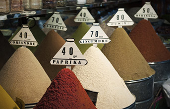 Barrys phots of spices in Marrakech